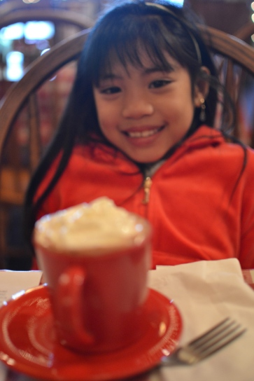 She loved her hot choco