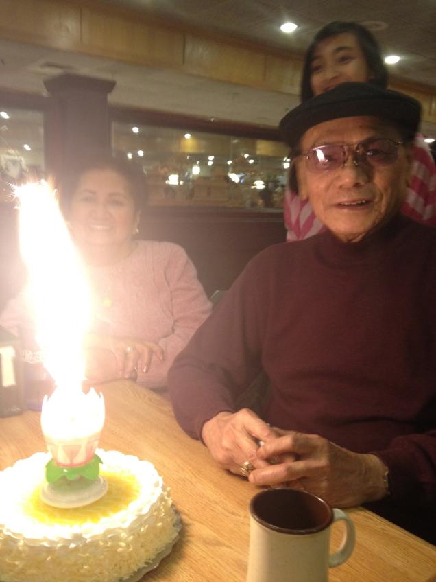 One big birthday candle