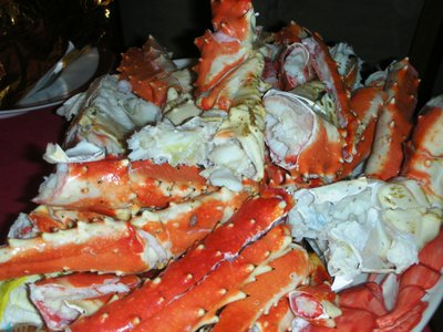 Crab legs for the holiday
