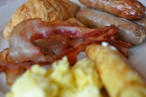 The breakfast buffet was abundant but we missed the sausage links from Lake McDonald and the bacon at the Best Western-Helena
