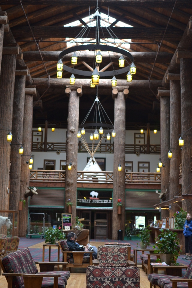 Inside the Glacier Lodge