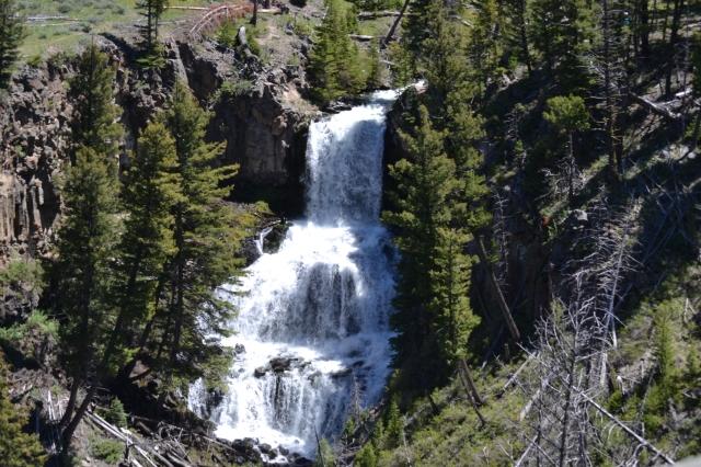 A raging waterfall