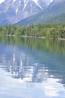 The water was so calm, it's glasslike