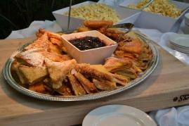 After dinner desserts - Montecristo sandwiches with huckleberry jam