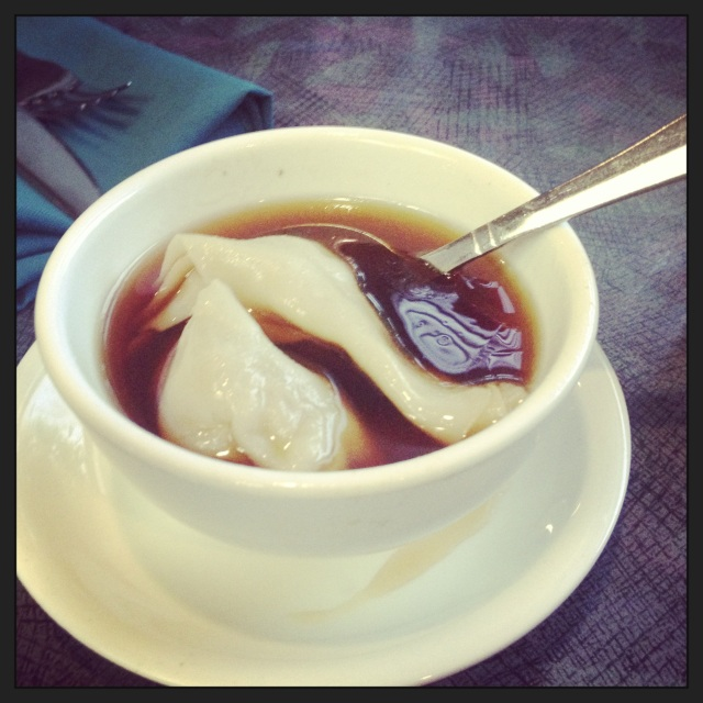 Wonton soup at Jade Garden in Helena