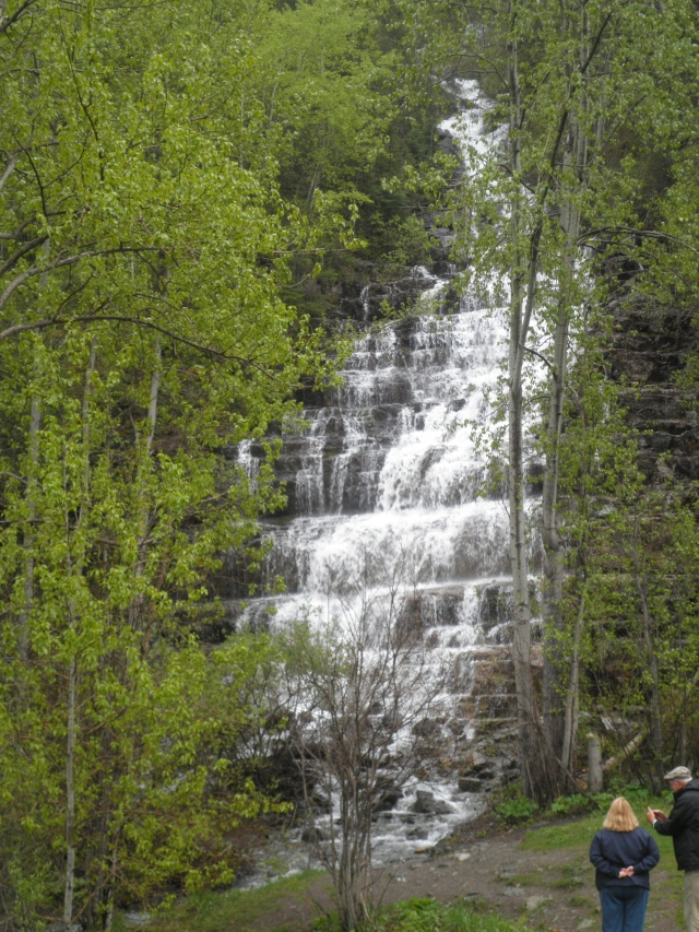 Silver Staircase Falls - we were told that normally falls in Glacier are not given any names because they are only there during Spring - Photo by my goddaughter and niece -Alyssa