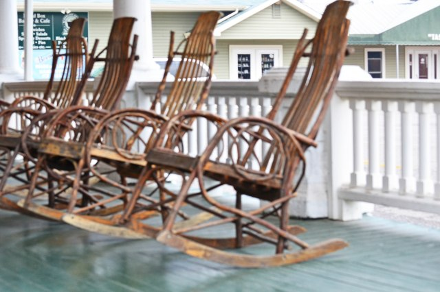Rocking chairs at the B&B we stayed in in Shipshewana, IN