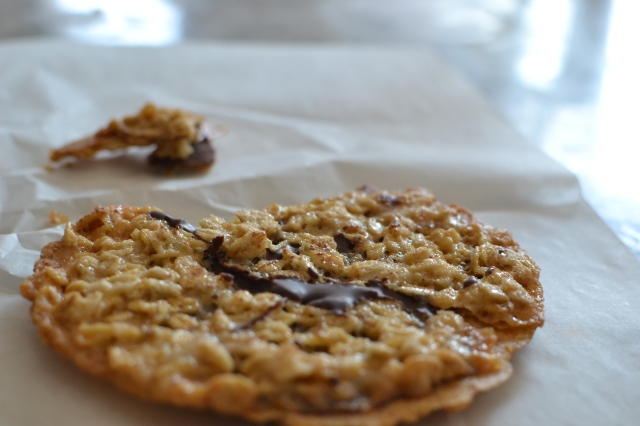 Thin chocolatey oatmeal cookies - so good!