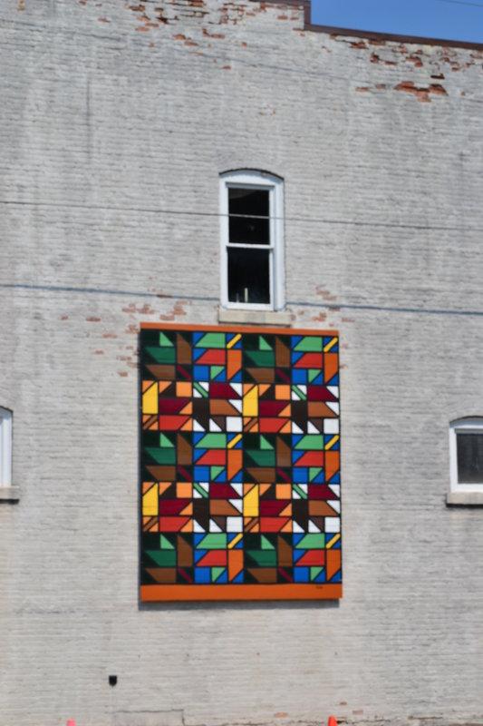 Multi-colored quilt