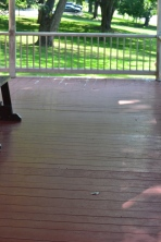 Wood floors of the front porch