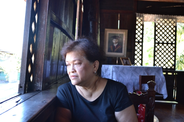 Pensive Loy in Sarrat, Ilocos Norte, birthplace of Pres. Marcos at his mother's house