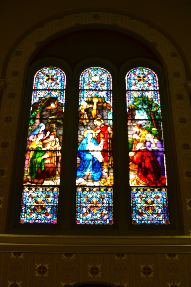 Stained windows at Ascension  Roman Catholic Church