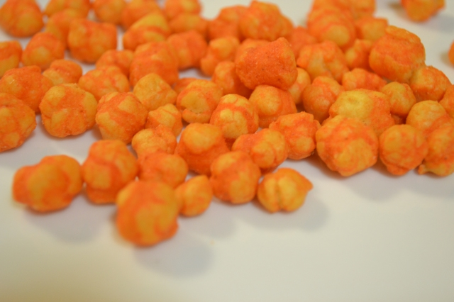 Orange snacks from the Philippines