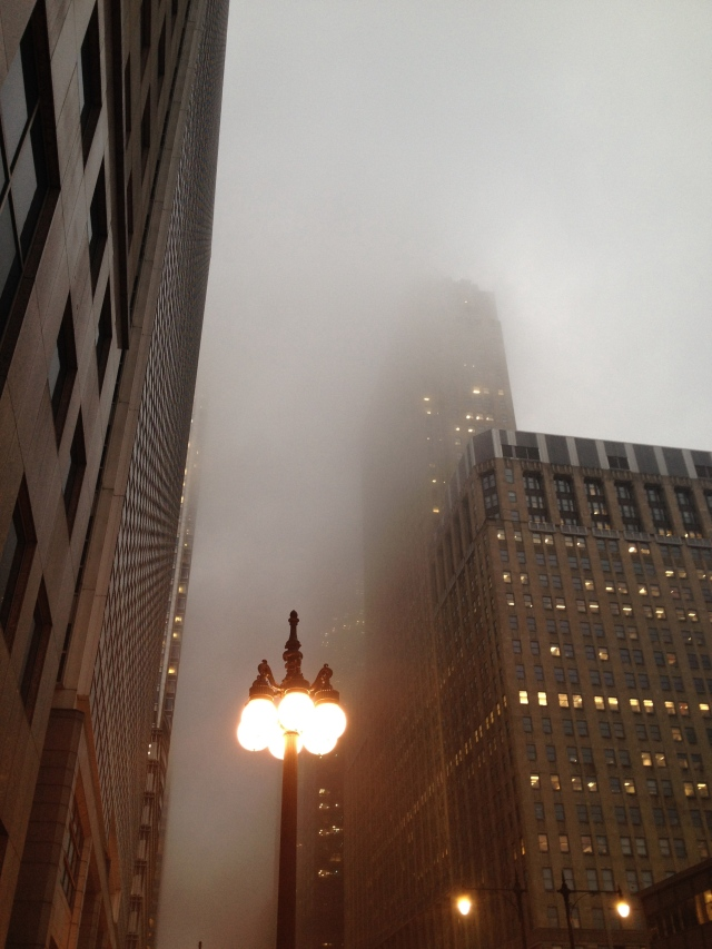 Thick fog descends on the City