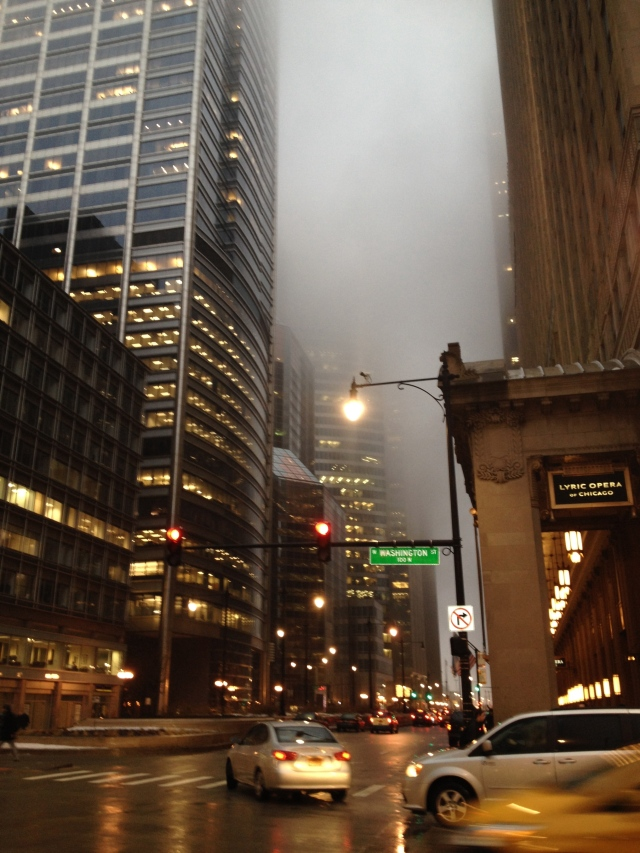Chicago in a fog