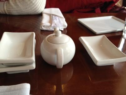 Simple white China