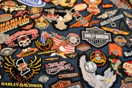 Various Harley patches given by HOGs