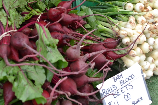 Fresh root vegetables at the Farmers' Market