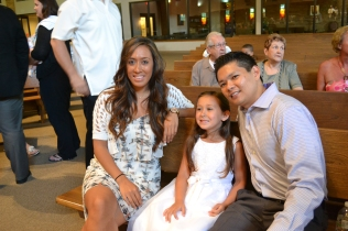 with godparents